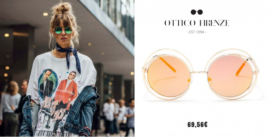 Wear mirror sunnies as Olivia Palermo